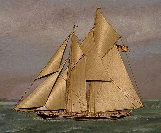 "American Yacht ""Agnes"" by Thomas Willis"